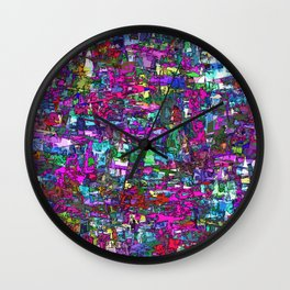 Busy Lizzy Wall Clock