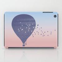 hot air balloon iPad Cases featuring Hot Air Balloon (P) by HeyAle!