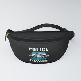 Police Officer Coffee Thin Blue Line Law Gift Fanny Pack