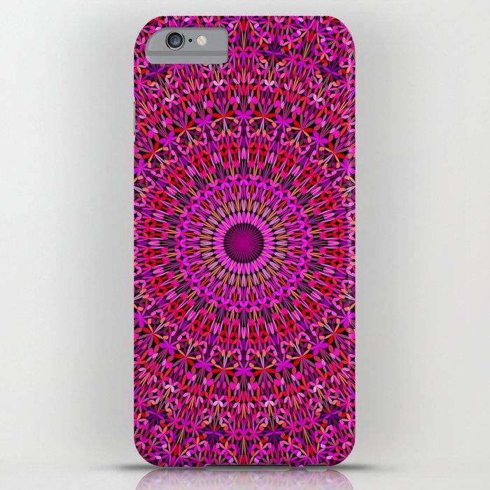 deep pink garden mandala iphone case