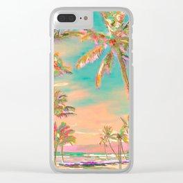 Hawaii Beach, Mauna Lani Bay Clear iPhone Case