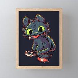Pls Throw?? // Cute Dragon, Viking, Kawaii Framed Mini Art Print