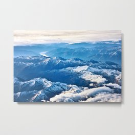 Above the Mountains I Metal Print