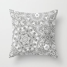 Mandalas pattern Throw Pillow