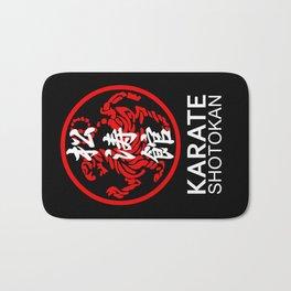 Shotokan Karate Symbol and Kanji white text Bath Mat
