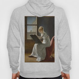 Young Woman Drawing - Marie Denise Villers Hoody