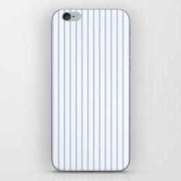 Alice Blue Pinstripe on White iPhone Skin