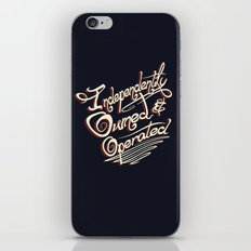 Independently Owned & Operated iPhone & iPod Skin