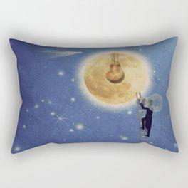 The moon watchman Rectangular Pillow