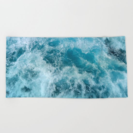 Wave Motion Beach Towel