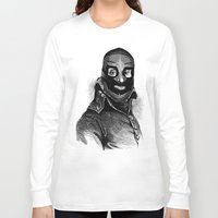 wrestling Long Sleeve T-shirts featuring Wrestling mask 3 by DIVIDUS DESIGN STUDIO