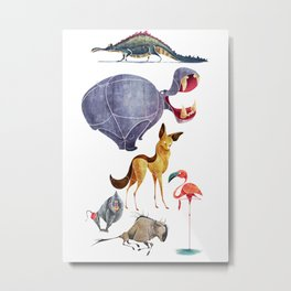 African animals 3 Metal Print