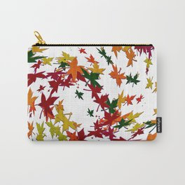 Abstract Blowing Fall Leaves Carry-All Pouch