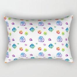 Watercolor Dice Rectangular Pillow
