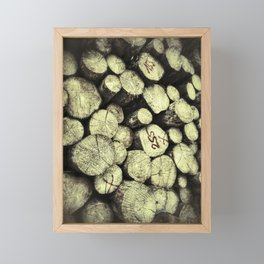 Big felled wooden logs Framed Mini Art Print