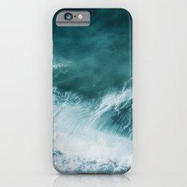 Teal Sea Waves iPhone Case
