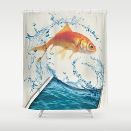 Two Dimensional Freedom Shower Curtain
