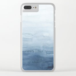 Indigo Abstract Painting | No. 4 Clear iPhone Case
