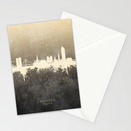 Nantes France Skyline Stationery Cards
