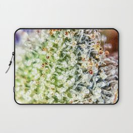 Top Shelf Bud Diamond OG Strain Trichomes Close Up View Laptop Sleeve