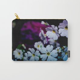Rainy White Flowers Carry-All Pouch