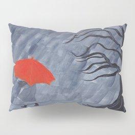 Orange Umbrella Pillow Sham