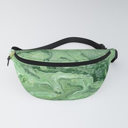 Green Topographical Map Abstract Painting Fanny Pack