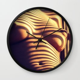 Striped (Nude Photography) Wall Clock