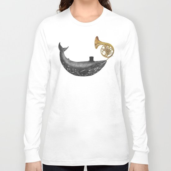 Whale Song - colour option Long Sleeve T-shirt