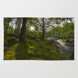 Morning River Sun Rug