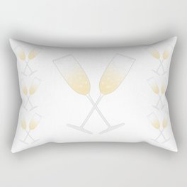 A Champagne Toast Rectangular Pillow