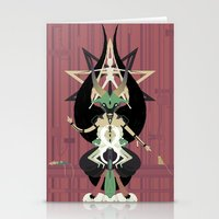 baphomet Stationery Cards featuring Baphomet by Sparganum