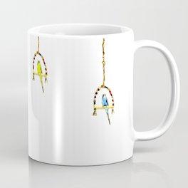 Parakeet Budgie on swing Coffee Mug