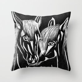 Horses love Throw Pillow