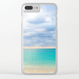 Tulum Sunrise Clear iPhone Case