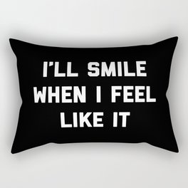 Smile Feel Like It Funny Quote Rectangular Pillow