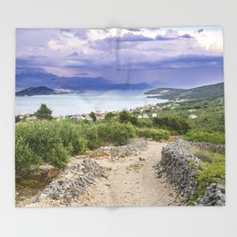 Ciovo island, amazing Croatia Throw Blanket