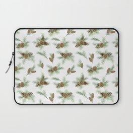 pine branches and cones pattern Laptop Sleeve