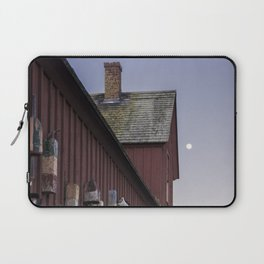 Motif #1 buoys and the full moon Laptop Sleeve