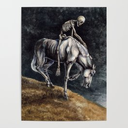 Skeleton Riding a Pale Horse Poster