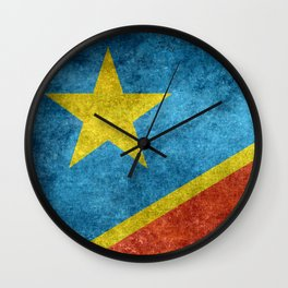 National flag of the Democratic Republic of the Congo, Vintage version (to scale) Wall Clock