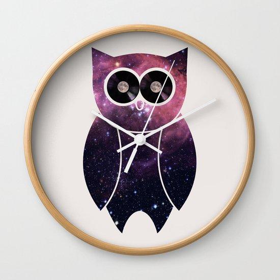 Owl Night Long Wall Clock