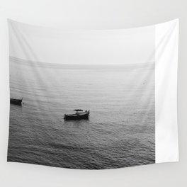 Riomaggiore Boats Wall Tapestry