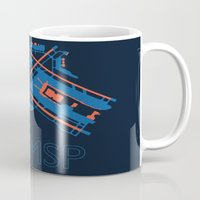 60s Mugs featuring Minneapolis-St.Paul (MSP) - 60s by Kyle Rodgers