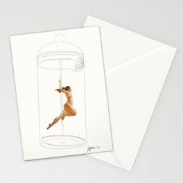 French Press Pole Dancer Stationery Cards
