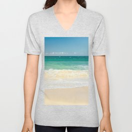 beach blue Unisex V-Neck