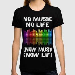 No Music No Life Music Lover T-shirt
