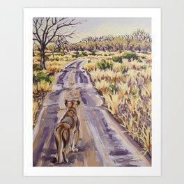 Lioness Landscape Art Print
