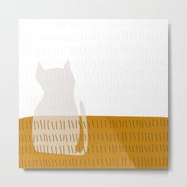 Coit Cat Pattern 3 Metal Print