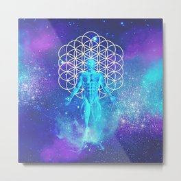 Sacred Geometry (Illumination) Metal Print